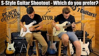 Download High End S-Style Guitar Shootout - Which do you prefer? Video