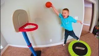 Download FATHER SON TRAMPOLINE BASKETBALL! Video