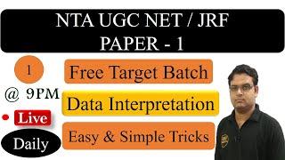 Download Data Interpretation UGC NET Paper 1 - NTA UGC NET JRF Exam Video