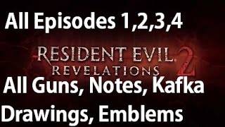 Download Resident Evil Revelations 2 - All Collectibles - Guns, Drawings, Parts Box, Larvae, Emblem Locations Video
