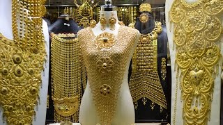 Download Dubai Gold Souk - City of Gold (Amazing collections of gold, silver ,diamonds & precious stones) Video