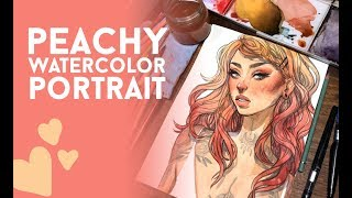 Download Peachy Watercolor Painting // Jacquelindeleon Video