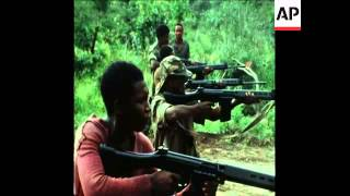 Download SYND 24 1 76 UNITA TROOPS TRAINING AT A CAMP NEAR SILVA PORTO IN ANGOLA Video