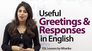 Download Useful English greetings and responses - Free English Lesson Video