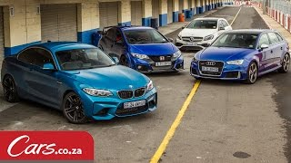 Download Track Race: BMW M2 vs Mercedes A45 vs Audi RS3 vs Honda Type-R Video