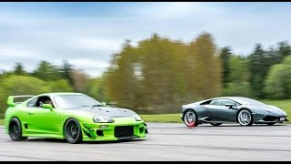 Download [4k] Supra 1000+ HP vs Lamborghini Huracán LP610-4 Video