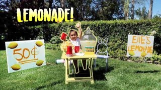 Download ELLE'S FIRST LEMONADE STAND!!! (SHE EARNS REAL MONEY) Video