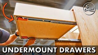 Download How To Make Easy DIY Drawers w/ Blum Undermount Slides // Home Bar Pt. 2 Video