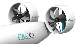 Download DUUC aircraft with the innovative 'Propulsive Empennage' concept Video