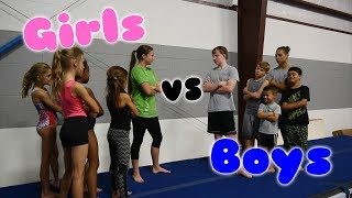 Download Boys VS Girls Gymnastics Challenge| Rachel Marie Video