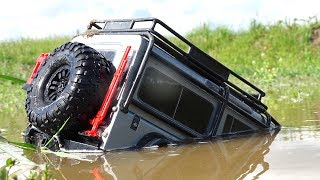 Download TRAXXAS TRX4 Driver ROOF DEEP - SWAMP RESCUE w/ SPYKER KAT | RC ADVENTURES Video