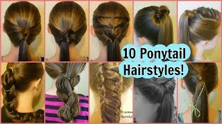 Download 10 Easy Ponytail Ideas! 2 Weeks Of Ponytail Hairstyles For School Video