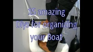 Download 15 amazing diy ideas for organizing your boat Video