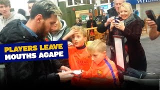 Download Young Barça fans bewildered by their heroes Video