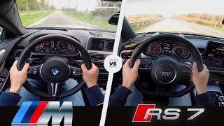 Download BMW M6 vs Audi RS7 | Acceleration Sound & POV | Gran Coupe vs Sportback Video