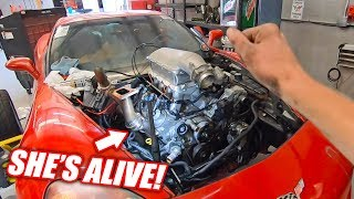 Download The Auction Corvette is REBORN w/Her ″NEW″ Junkyard Truck Engine! Video