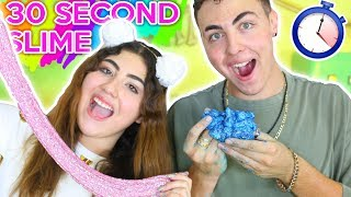 Download 30 SECOND SLIME CHALLENGE | Galaxy, corn starch, fluffy slimes | Slimeatory #96 Video