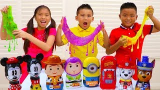 Download Wendy Mixing Slimes & Pretend Play Fun Mystery Slime Challenge with Kids Video