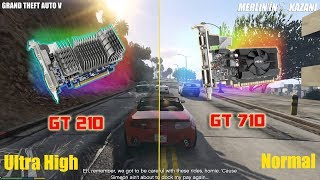 Download NVIDIA GT 210 vs gt 710 gta 5 gameplay test -BEST LOW BUDGET Graphics card ever Video