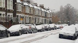 Download 'Complete nightmare': U.K. residents wake up to big snowfall Video
