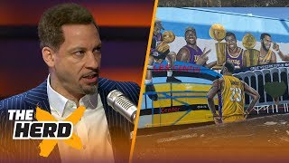 Download Broussard and Mcintyre on the new LeBron mural in Los Angeles | NBA | THE HERD Video