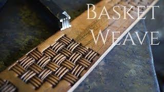 Download Blacksmithing - Forging a Basket Weave Leather Stamp Video