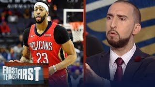 Download Nick Wright on reported Anthony Davis trade rumors | FIRST THINGS FIRST Video