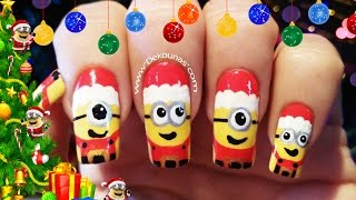 Download Decoración de uñas Minions navidad - Christmas minions nail art Video