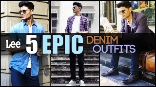Download 5 EPIC DENIM Outfits Every Man Needs ft. Lee FW16 | Classic Men's Look-Book | Mayank Bhattacharya Video