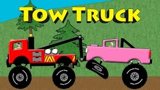 Download Tow Truck Colors - Monster Truck Towing & Rescue Colors For Kids Video