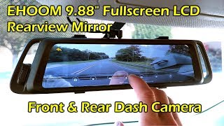 Download EHOOM A10 Fullscreen LCD Rearview Mirror Front Rear Dashcam Video