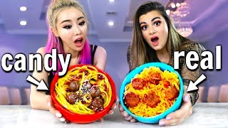 Download Making FOOD out of CANDY! Candy vs Food Challenge ft. Wengie Video