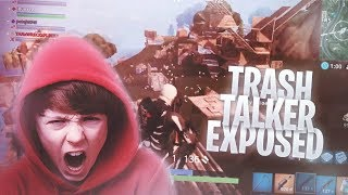 Download I MET THE BIGGEST TRASH TALKER on FORTNITE BATTLE ROYALE & WE WAGERED • Trash Talker EXPOSED! Video