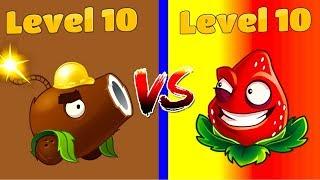 Download Plants vs Zombies 2 Overview STRAWBURST 10 vs COCONUT CANNON 10 Free vs Premium Primal Challenge Video