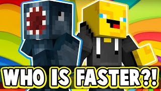 Download WHO IS FASTER?! - MINECRAFT SPEED RUN! W/AshDubh! Video