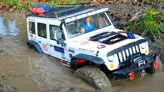 Download RC CARS 4x4 MUDDING & WINCH RESCUE ACTION 🍂 RC Crawler & Scaler Osnabrück Video