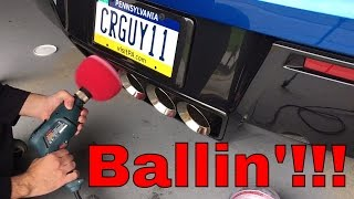 Download Mother's Polish Ball Review on Exhaust Tips!!! - C7 Corvette Video