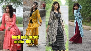 Download Myntra kurta palazo set haul + Lookbook ||under 1000rs. || shystyles Video