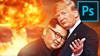 Download Photoshopping DONALD TRUMP and KIM JONG UN ❤️❤️ Video