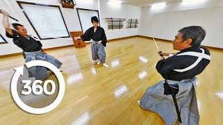 Download Professional Japanese Samurai Battle It Out In Virtual Reality (360 Video) Video