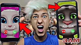 Download DO NOT CALL TALKING TOM AND TALKING ANGELA AT 3AM!! *OMG THEY CAME TO MY HOUSE* Video