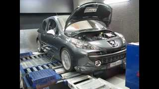 Download PEUGEOT 207 GTI on dyno after tune !!!!! Video