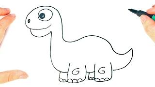 Download Cómo dibujar un Dinosaurio para niños | Dibujo de Dinosaurio paso a paso Video
