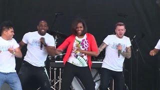 Download Michelle Obama shows off some ″Uptown Funk″ during Easter egg roll Video