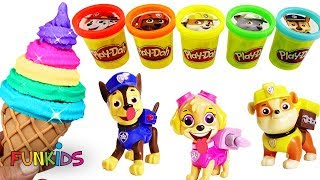 Download Learn Colors with Play Doh and Paw Patrol Rainbow Ice Cream Video