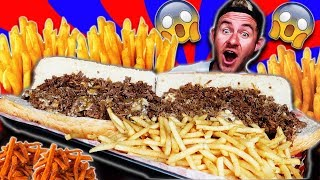 Download THE MONSTER TEXAS CHEESESTEAK CHALLENGE! (15,000+ CALORIES) Video