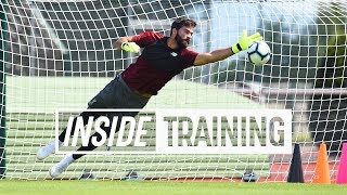 Download Inside Training: Action-packed first session for Alisson | Great goals, a world-class save and more Video