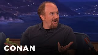 Download Louis CK Punches Dog In The Face To Save Her Life - Conan On TBS Video