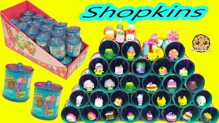 Download Shopkins Exclusive Season 1, 2, 3 Colors Food Fair Candy Jar Surprise Blind Bags Full Box Video