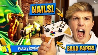 Download Playing Fortnite With MOST DANGEROUS CONTROLLER OF ALL TIME!!! (Extreme Fortnite Challenge) Video